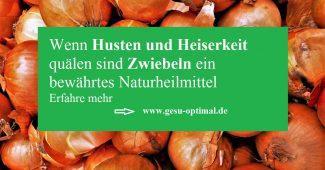 Mit Zwiebeln gegen Husten und Heiserkeit-