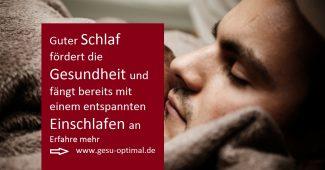 Entspanntes Einschlafen fördert die Gesundheit