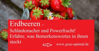 Erdbeeren - Schlankmacher und Powerfrucht im roten Design
