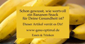 Bananen – Snack für Darm und Gesundheit