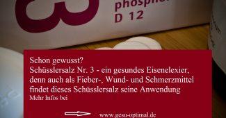 Schüsslersalz Nr. 3 - Das gesunde Eisenelixier