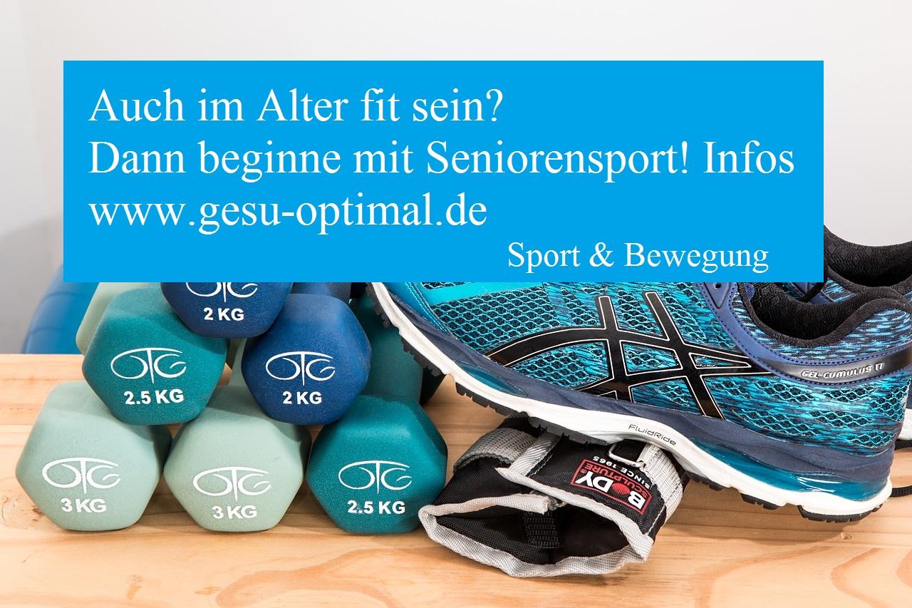 Seniorensport - im Alter sportlich aktiv sein