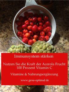Immunsystem mit Vitalstoff Ergänzungsmittel stärken