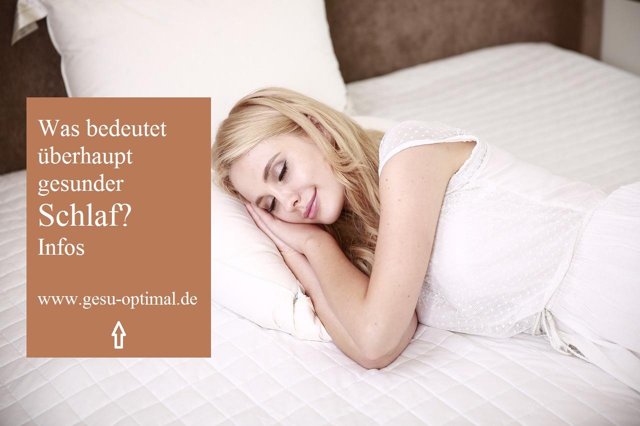 Was bedeutet überhaupt gesunder Schlaf?
