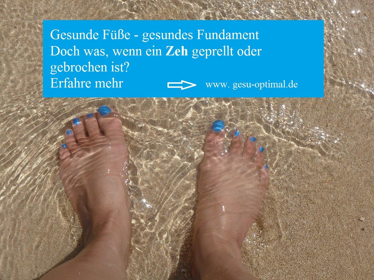 Fußzeh gebrochener Gebrochener Fuß